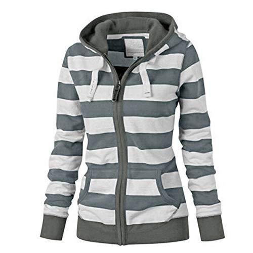 BHYDRY 2036 Mode Cotton Down Jacket Short Coat Women Solid Slim Thick Large Fur Collar Hooded Winter Warm Parkas Overcoat Zipper Padded Tops Outwear(EU-46/CN-4XL,Grau) Kurze Warme Down Coat