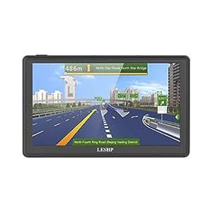 LESHP, navigatore satellitare GPS per automobili, schermo da 7 pollici, 8 GB di memoria, con mappe di Europa, Regno Unito e Irlanda, con aggiornamenti a vita