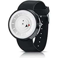 Reloj de Cuarzo Unisex para Hombre para Mujer, Reloj análogo de Moda único y análogo con Estuche de dial Redondo, Banda de Silicona cómoda (Blanco)