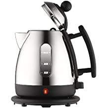 Dualit 72200 Jug Kettle, 1 Liter, Stainless Steel and Black Finish