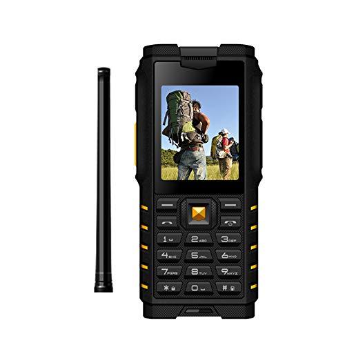 BESTSUGER Tragbare Walkie-Talkie, Hand-Held Walkie Talkie, 2,4-Inch Uhf Intercom Handy Dual Card Dual Standby Ip68 Waterproof,Yellow Dual-handheld-radio
