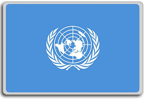 United Nations Flag fridge magnet - Kühlschrankmagnet (Nations-flag United)