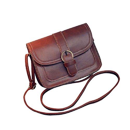 Transer Women Shoulder Bag Popular Girls Hand Bag Ladies PU Leather Handbag, Borsa a spalla donna 19cm(L)*14(H)*7cm(W), Black (Multicolore) - YLL60909521 Coffee