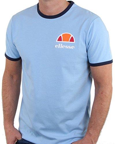 ellesse Ringer T Shirt Sky Blue XS