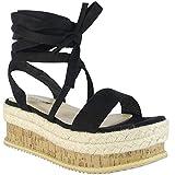 BeMeesh Alpargata para Mujer Zapatos Planos con Plataforma y Cuerdas Sandalias de Verano