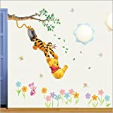 Removable Vinyl Wall Sticker Mural Decal Art - Winnie the Pooh Swinging