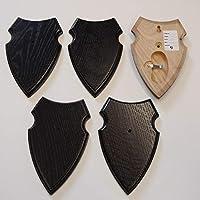 5 unidades REH Bock Cartel trofeos Cartel con 1 compartimento de pino en roble oscuro AF 16 x 10 cm