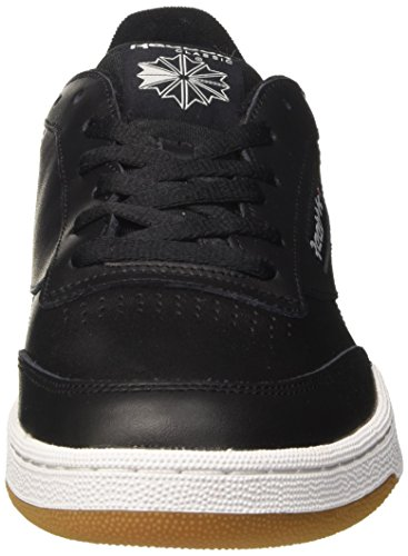 Reebok Herren Club C 85 Sneaker Schwarz (Intense/black/white/gum)