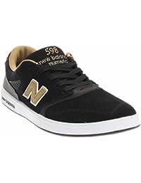 New Balance numérico zapatos 598–Color Negro y dorado, negro, 8 UK