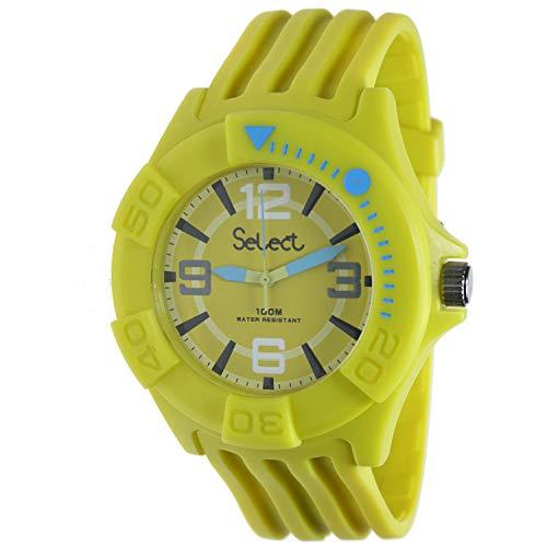 54a0d771b448 Select Tc-30-08 Reloj Analogico Unisex Caja De Resina Esfera Color Amarillo
