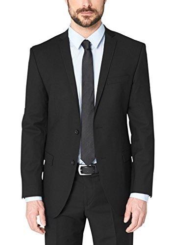 s.Oliver BLACK LABEL Herren Anzugjacke 02.899.54.2352, Einfarbig, Gr. 102, Schwarz (BLACK 9999) (Wolle Schwarz Herren Suit)