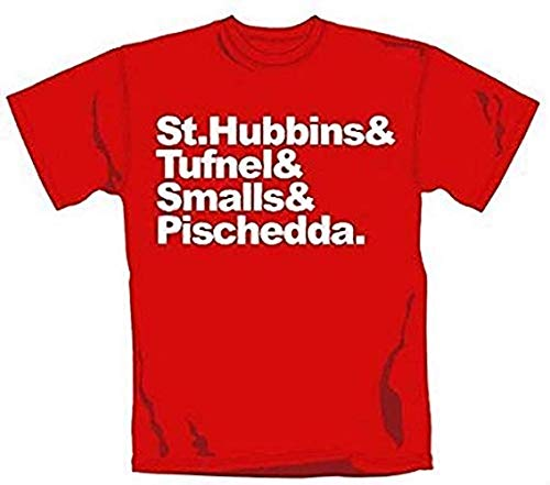 Spinal Tap - Names - Offizielles Herren T-Shirt - Rot, Small (Shirt Tap T Spinal)