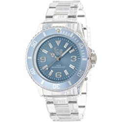 Ice-Watch Unisex Quartz Watch with Blue Dial Analogue Display and Transparent Plastic or PU Bracelet PU.BE.U.P.12