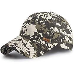 FOOKREN Casquette de Baseball Casquette de Camouflage Militaire Activités en Plein air Camping et la Chasse Casquette (Vert)