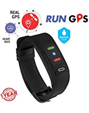GoQii Run GPS Fitness Tracker with Heart Rate Monitor & 3 Month Personal Coaching