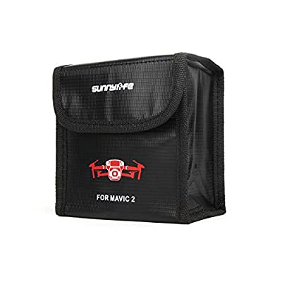 Anbee Mavic 2 Lipo Battery Safe Bag Fireproof Storage Bag for DJI Mavic 2 Zoom/Pro Drone [3-Sizes]