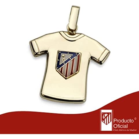 Colgante de oro amarillo de 18kt camiseta At. Madrid