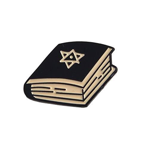 e Kerze Kristallkugel Trank Schädel Hexagramm Buch Pins Broschen Rucksack Jeans Lederjacken Hüte Accessoires Buch ()