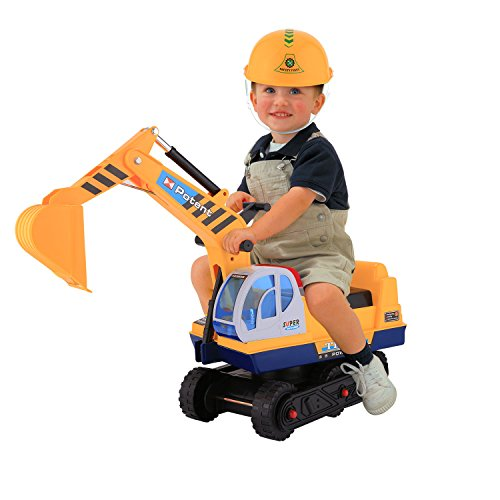 Swteeys Sitzbagger Kinder Traktor Spielzeug Rutschfahrzeug Rutscher Traktoren Babyrutscher Kinder Fahrt Bagger ab 3 Jahre 45 x 24 x 30 cm