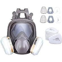 Paneltech Respirador de Máscara de Gas Reutilizable 3M 6800 con Filtro Reemplazable Antifaz Antipolvo Respiradores de Carbón Activado Rostro Completo Máscara Química Máscara Protectora del Respirador para Pintar Pulverización Trabajo Agrícol a
