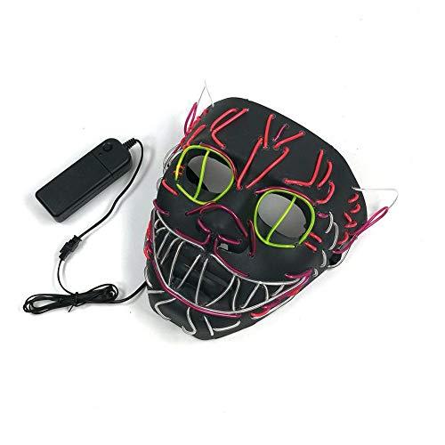 (Horror Maske LED Halloween Masken Elvis Halloween Kostüm Maske Gruselmaske Faschingsmaske Karneval für Festival,Cosplay,Halloween,Kostüm by Futurepast)