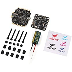 Lovelysunshiny Controlador de Vuelo HGLRC XJB F438 F4 OSD 4in1 38A Blheli_S ESC para RC Drone