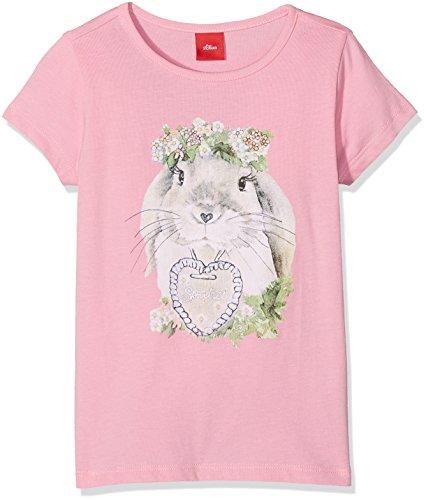 s.Oliver Mädchen T-Shirt Kurzarm, Rosa (Purple/Pink 4400), 104 (Herstellergröße: 104/110)