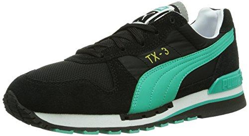 PUMA - TX 3 Wn's - Tx-3 Wn'S, Chaussures de sport femme Schwarz (black-pool green 09)