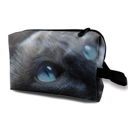 Travel Cosmetic Bag Cool Halloween Black Cat Lady Make-up Organizer Clutch Bag with Zipper Toiletry Storage Pouch