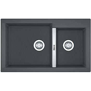 Franke 114.0367.771 Granite Fragranite Kitchen Sink with Single Bowl from Euroform SAG 614-78 Stone Grey