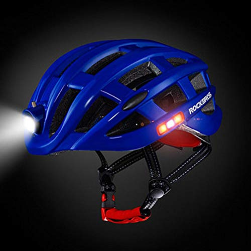 ghfcffdghrdshdfh ROCKBROS Outdoor Sports Helmet with Light Mountain Bike Riding Safety Helmet
