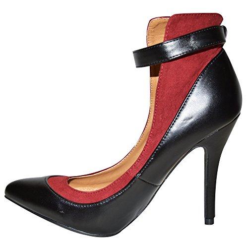 Dolcis - Strap alla caviglia donna Black Wine