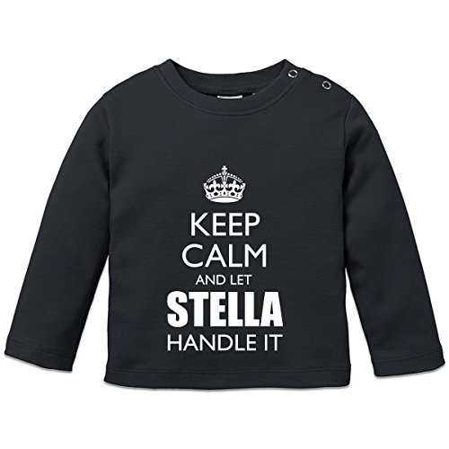 Keep Calm And Let STELLA Handle It Baby Langarmshirt by Shirtcity (Mädchen Stella Langarmshirts)
