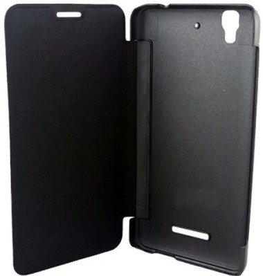 SDO Classy Genuine Style Flip Flap Case Cover for Micromax YU Yureka/Yureka Plus (Black)