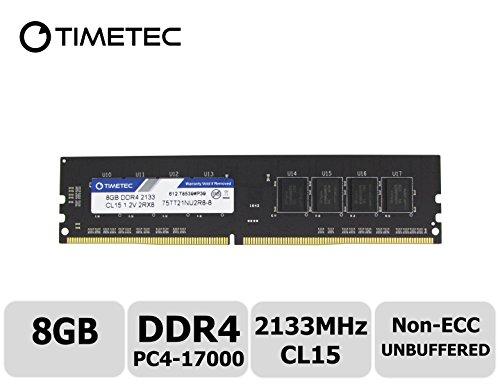 Timetec Hynix IC 8GB DDR4 2133MHz PC4-17000 Non ECC Unbuffered 1.2V CL15 2Rx8 Dual Rank 288 Pin UDIMM Desktop PC Computer Memory Ram Module Upgrade