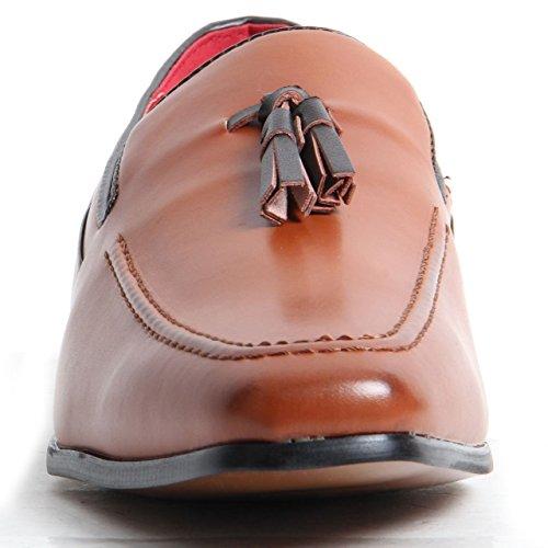 Herren-Slip auf Wildleder Leder gefüttert Western Heel Schlupfschuhe Deko Stitch Schuhe Brown Matte