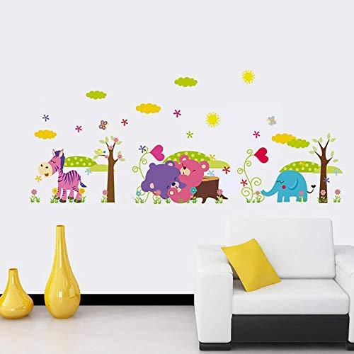 ufengke Vinilos Infantiles Caballo Oso Elefante Pegatinas Decorativas Pared Adhesivos Decorativos para Habitaciones Bebe Salon