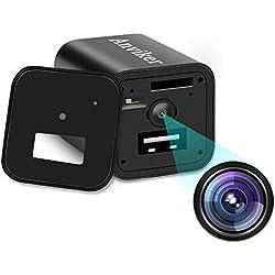 Caméra cachée Caméscope Caméscope Hidden Caméscopes 1080P HD, Nounou caméra Chargeur avec Fonction de détection de Mouvement Attacher Multi-Langue Manuel d'instructions(Ne Pas inclure de Carte SD)