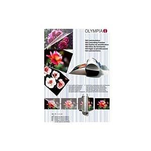 Verpackungsteam Olympia Lot de 100 pochettes en plastiques pour format A4/A5/A6 et cartes de visite