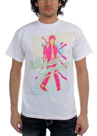 Michael Jackson - Beat It Mens S/S T-Shirt In White, XX-Large, White