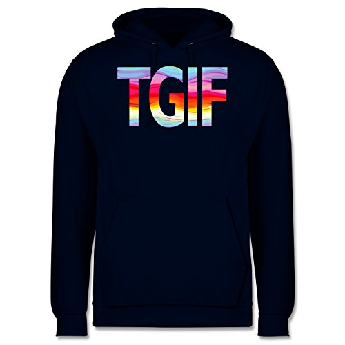 Statement Shirts - Thank god it's friday - Männer Premium Kapuzenpullover / Hoodie Dunkelblau