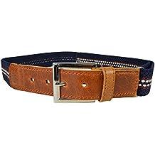 Cinturón Elástico / Cuero Marrón para los Niños / Jóvenes 5-15 Años con Hebilla
