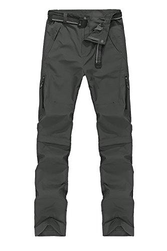 56e508ef927 Mr.Stream Outdoor Pantalones de Senderismo Desmontables Quickdry para  Hombre 4X-Large Light Green