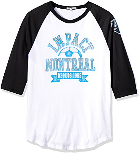 Junk Food Herren 3/4 Raglan Tee, Herren, Clothing Men's MLS Raglan, Ew/Tb, Large -