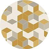 ZHP & Hausteppich Runder Teppich Geometrisches Muster Nachttisch Teppich Wohnzimmer Sofa Rutschfest Teppich - Durchmesser 80cm Teppich Supermarkt (Farbe : B, größe : Round-100CM)