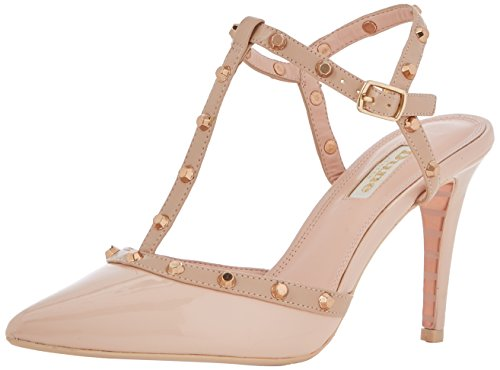 Dune Damen Catelyn T-Spangen Pumps Beige (Nude)