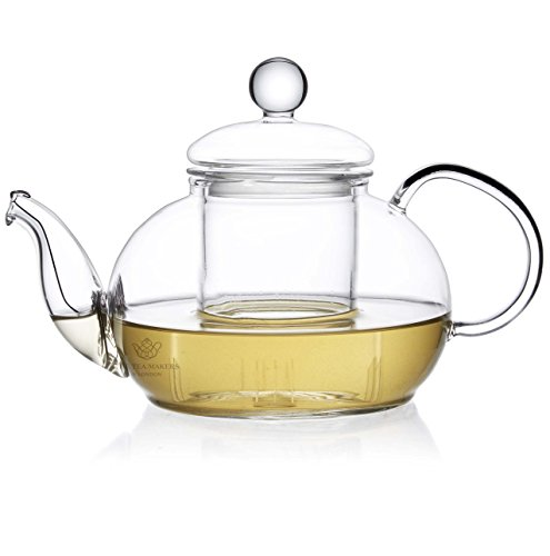 The tea makers of london - teiera in vetro con infusore da 600 ml
