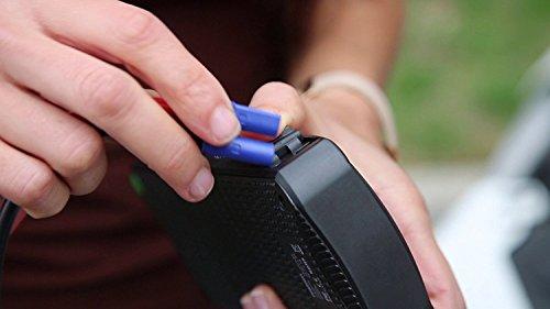 418Z2SwLNTL - Mini portátil coche de arranque Ivation banco de la energía con 12,000 mAh de capacidad - batería de coche con el impulso de suministros de 400 amperios - Características de la luz LED y doble dispositivo USB puertos de carga