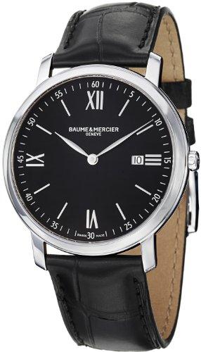 baume-et-mercier-classima-executives-cadran-noir-acier-inoxydable-montre-homme-m0a10098