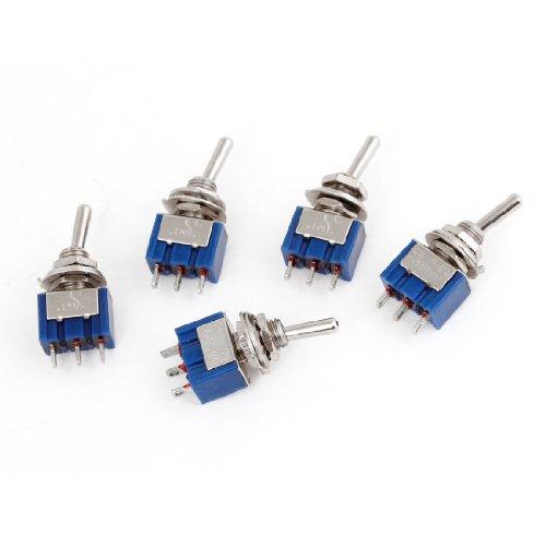 AC 125V 6A SPDT On/On 2Position 3Pins Terminals Miniatur-Kippschalter 5Stück -